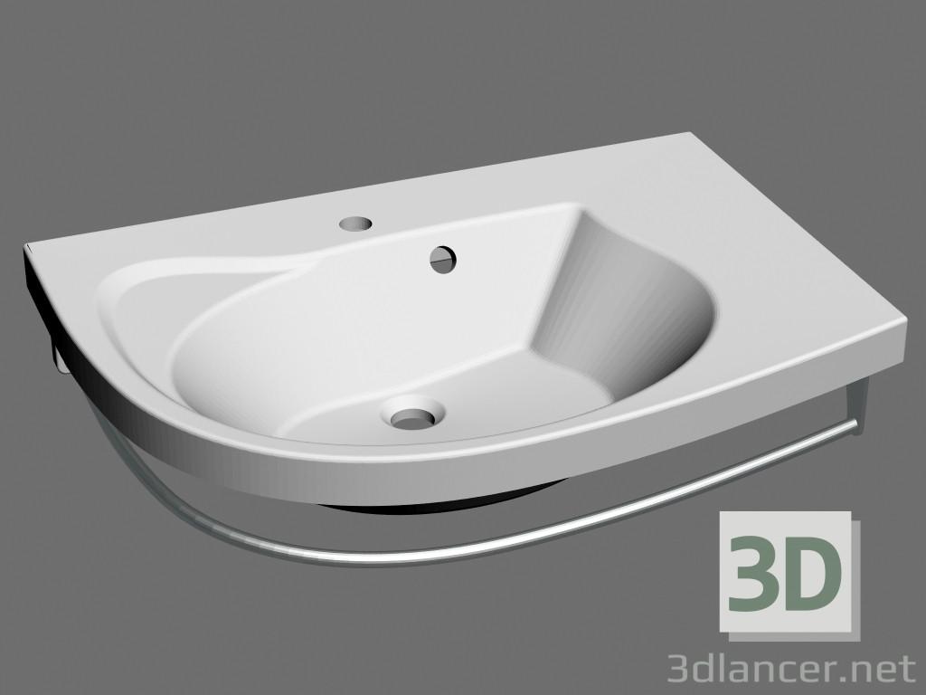 3D-Modellierung Rosa Comfort R Waschbecken Modell kostenlos herunterladen