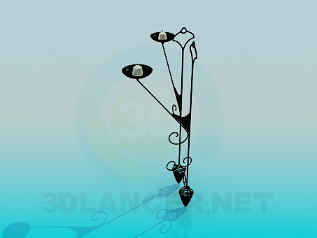 3d modeling Candlestick forged model free download