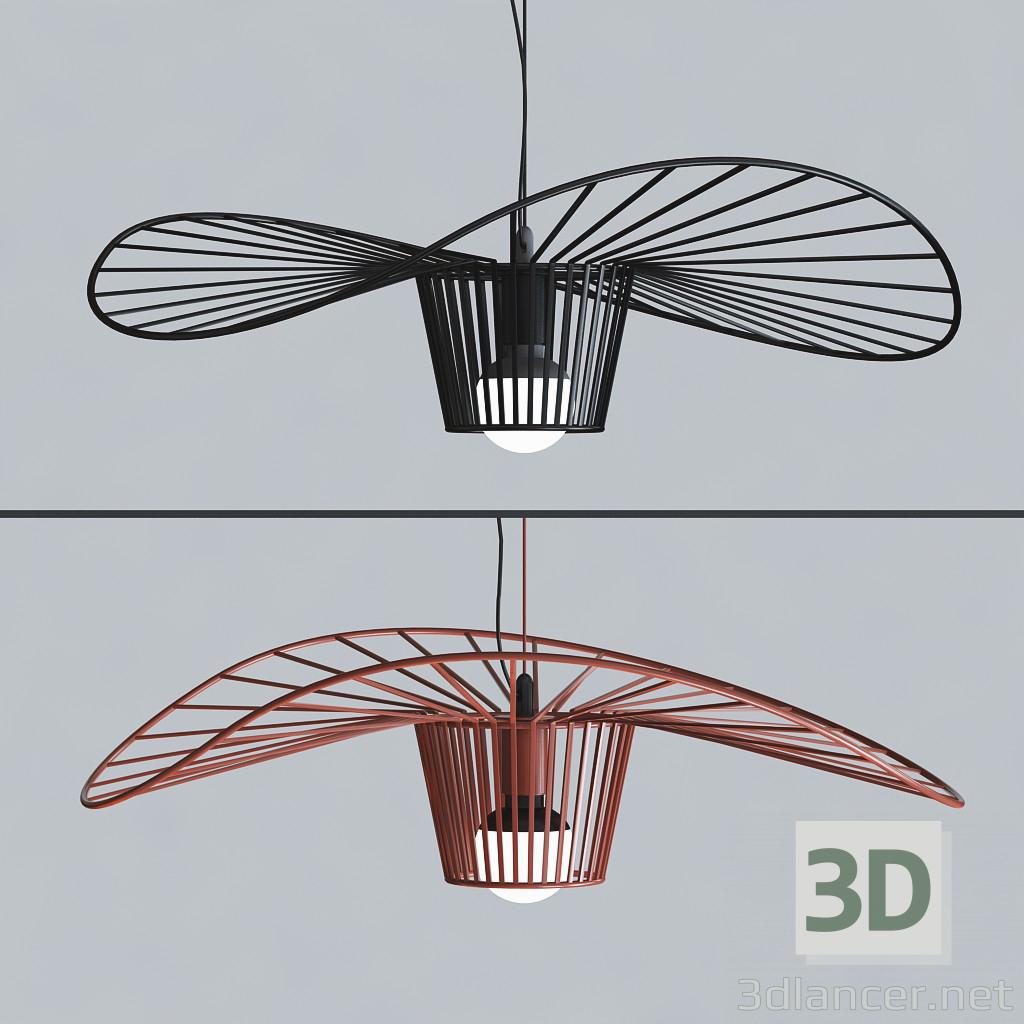 3d Straw hat chandelier model buy - render