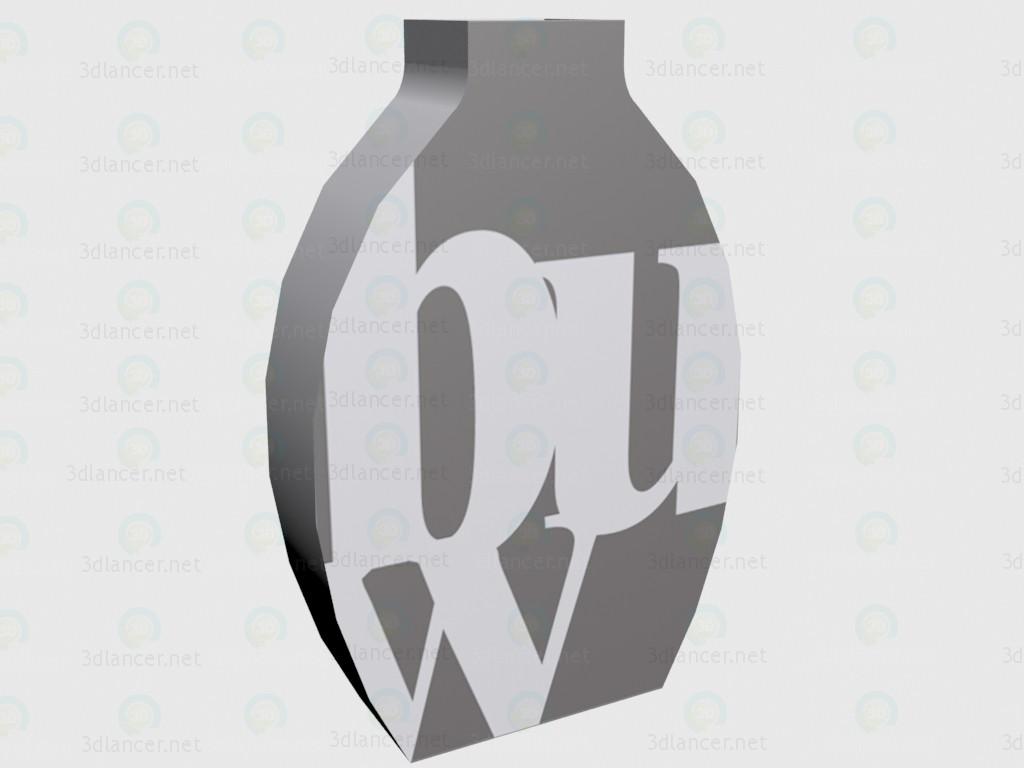 3d модель Ваза Vogue (d608c0702) – превью