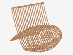 Poltrona in legno naturale piegato
