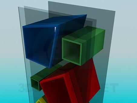3d модель Стеллаж – превью