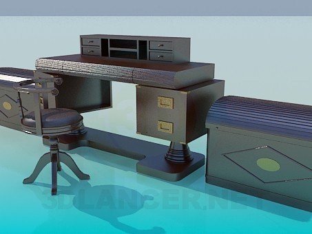 3d model Work place furniture - preview