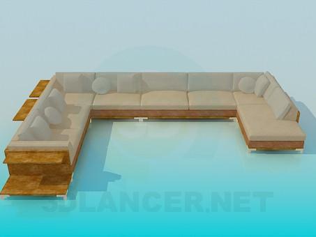 descarga gratuita de 3D modelado modelo Esquina del sofá