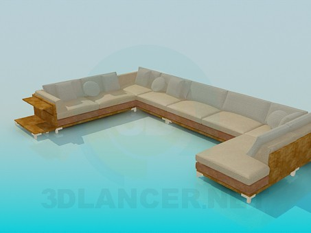 modelo 3D Esquina del sofá - escuchar