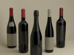 Французские бутылки вина