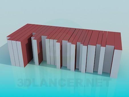 3d моделирование Книги модель скачать бесплатно