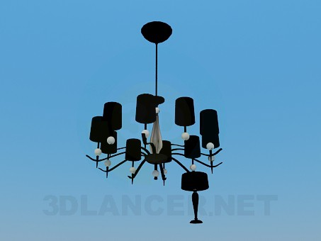 3d model Chandelier and table lamp - preview