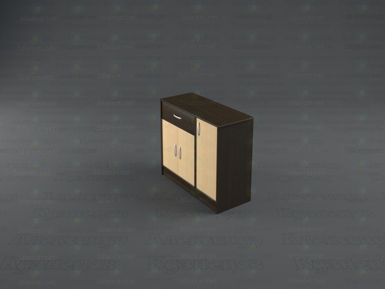 3d модель Комод Дует 2 – превью