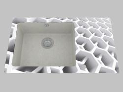 Fregadero de granito de vidrio, 1 cámara con un ala para secar - Edge Diamond Capella (ZSC SC2C)