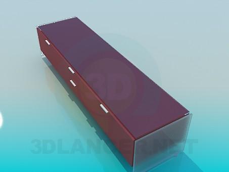 descarga gratuita de 3D modelado modelo Mesa de TV