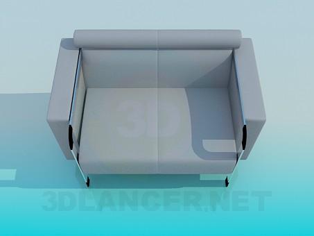 3d модель Крісло для офіційних приміщень – превью