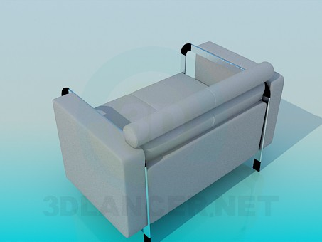 3d model Armchair for official premises - preview