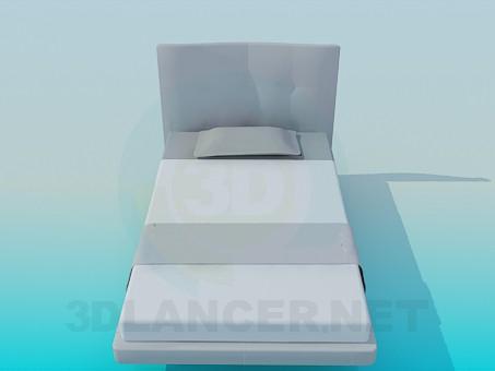 3d модель Одномесная кровать – превью
