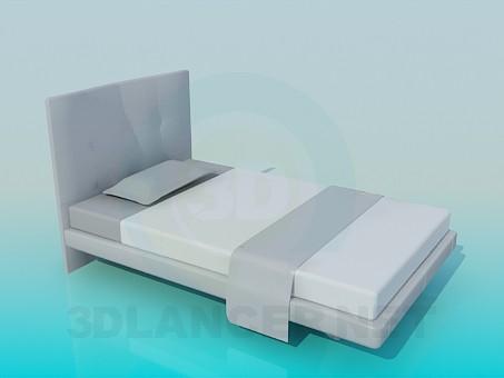 3d модель Одномісна ліжко – превью