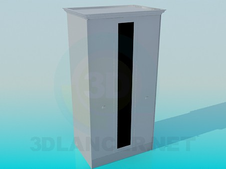 3d model Narrow wardrobe - preview