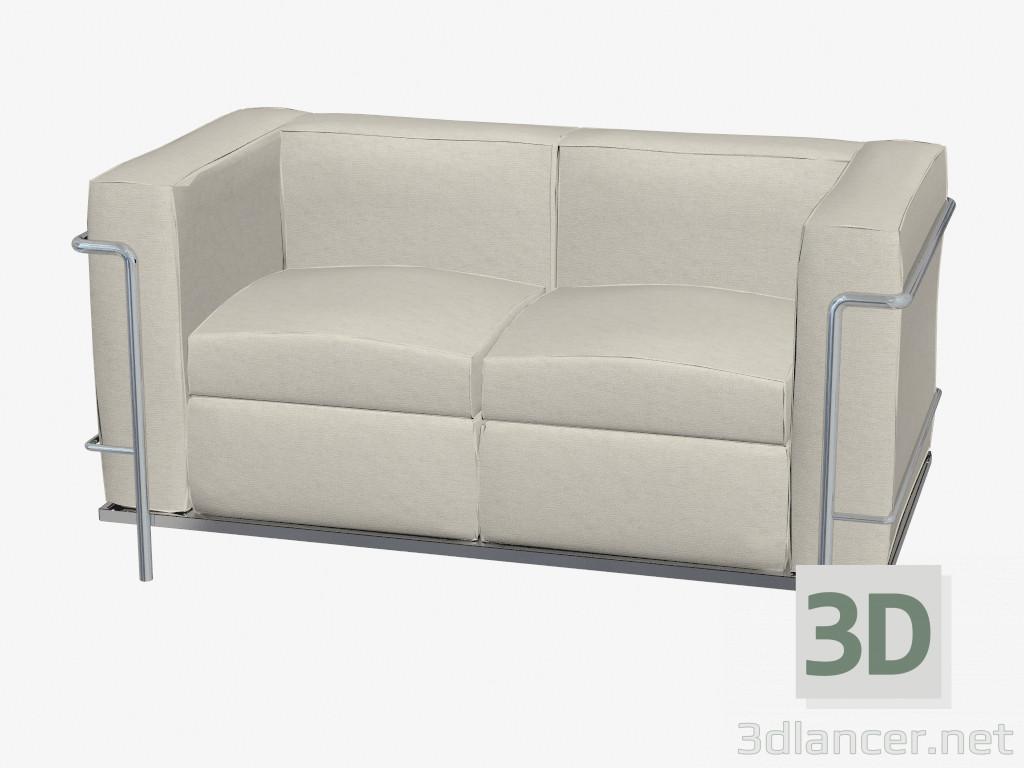 3d modella divano doppio dritto dal produttore Cassina Le Corbusier ...