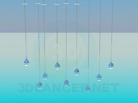 modelo 3D Durante mucho tiempo solos luminarias - escuchar
