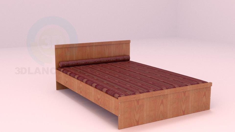 3d модель Двоспальне ліжко – превью