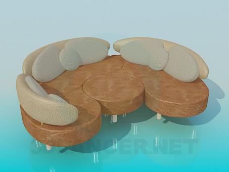3d model Folding sofa - preview