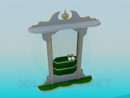 3d modeling Stand for balls in the billiard room model free download