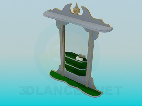 3d model Stand for balls in the billiard room - preview