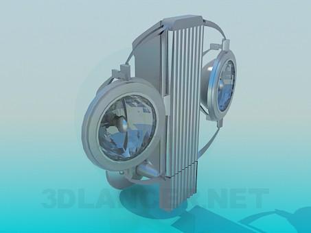 3d модель Бра с галогенными лампами – превью