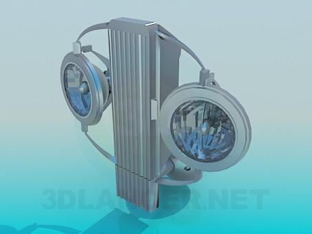 modelo 3D Candelabros de pared con lámparas halógenas - escuchar