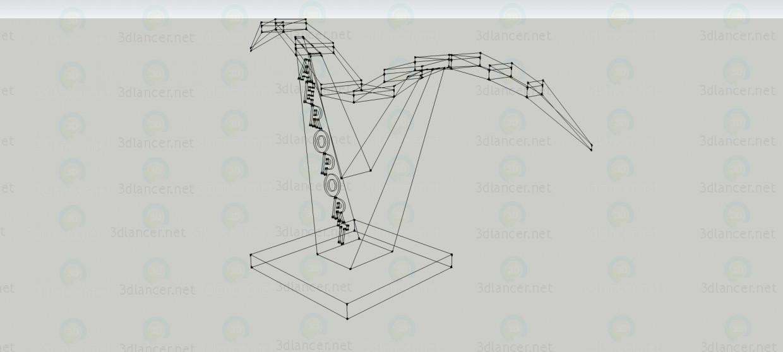 modelo 3D La señal de entrada en el aeropuerto 2 - escuchar