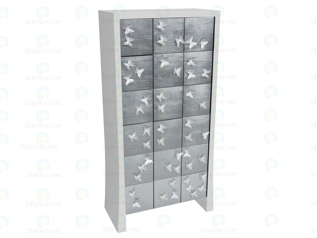 3d model Shoe rack Papillon - preview