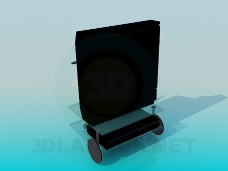 3d modeling TV and video player on the table model free download