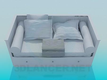 3d model Sofá cama - vista previa