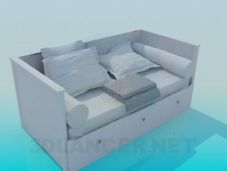 3d модель Диван-кровать – превью