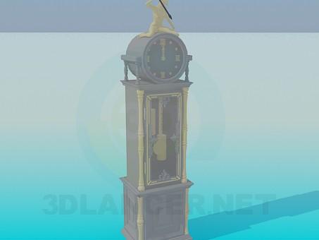 3d modeling Floor clock model free download