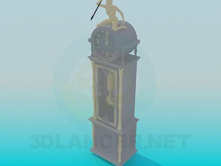 3d model Floor clock - preview