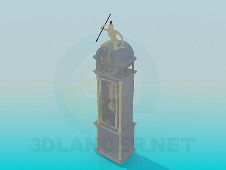 modelo 3D Reloj de pie - escuchar