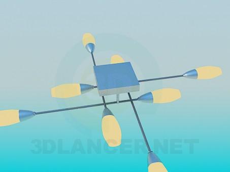 Scarica di Lampada con perpendicolarmente pleced i dipinti del soffitto modello gratuito di modellazione 3D