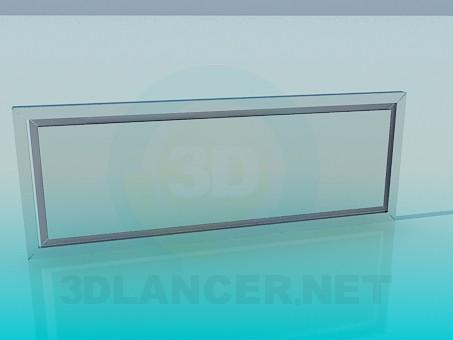 3d модель Скляна панель – превью