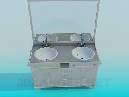 3d моделирование Мебель в ванную модель скачать бесплатно