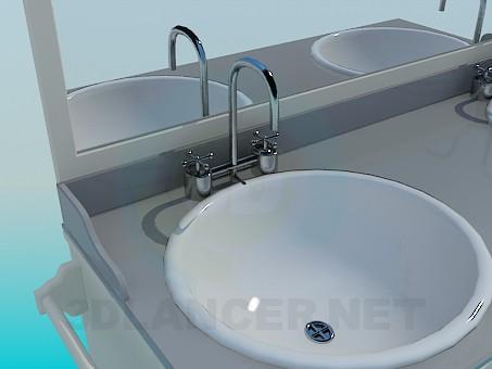 modelo 3D Muebles en el baño - escuchar