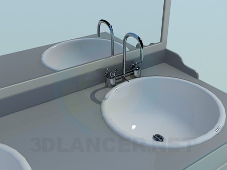 3d model Furniture in the bathroom - preview