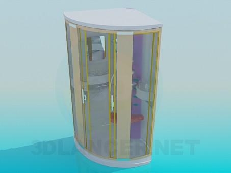 modelo 3D Ducha de - escuchar