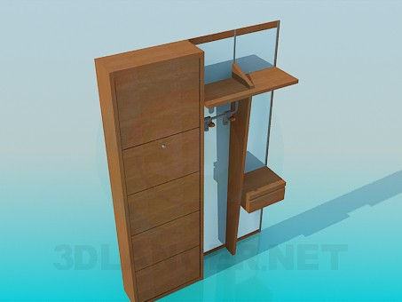 3d model Furniture for the corridor - preview