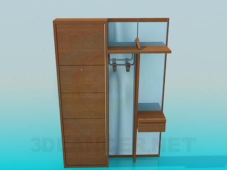 3d модель Меблі для коридору – превью