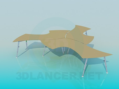 3d model Complete tables - preview