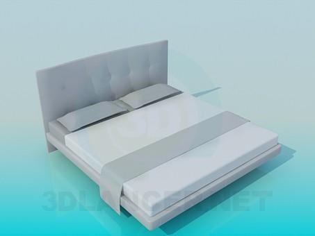 3d модель Двухспальная кровать – превью