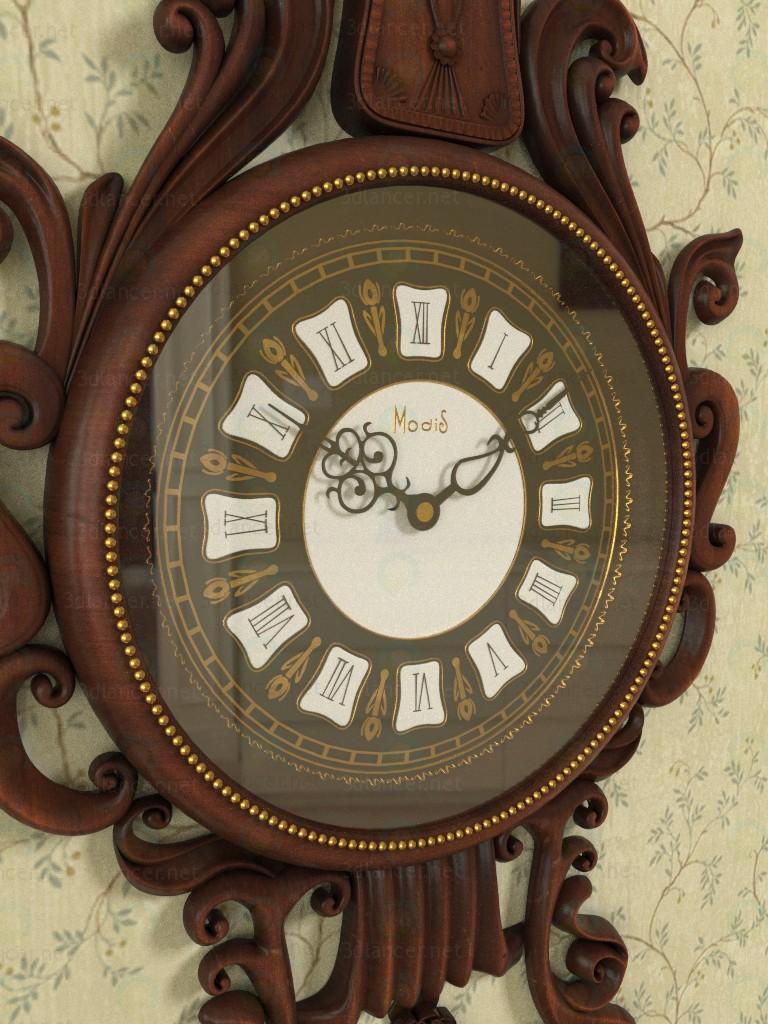 Reloj de pared 3D modelo Compro - render