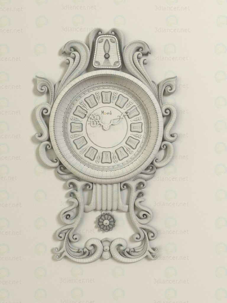 3d Wall Clock model buy - render