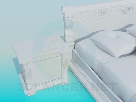 modelo 3D Un conjunto de muebles en el dormitorio - escuchar