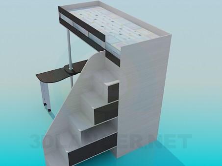 modelo 3D Muebles infantiles - escuchar